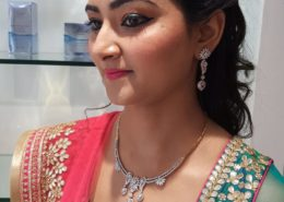 Hair up and makeup - Kittn Salon & Spa - Beauty Parlour Karnal +91 184 404 2229 174 and Ludhiana + 91 161 410 0076.