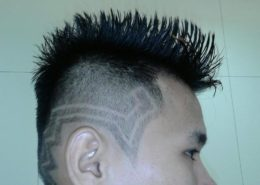 Side view of male with hair tattoo - Kittn Salon & Spa - Beauty Parlour Karnal +91 184 404 2229 174 and Ludhiana + 91 161 410 0076.