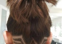 Back view of lady with hair tattoo - Kittn Salon & Spa - Beauty Parlour Karnal +91 184 404 2229 174 – L, Model Town, Karnal, Haryana-132001