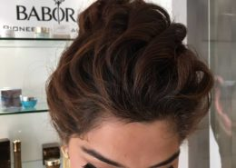 Overview of hair up and makeup on client - Kittn Salon & Spa - Beauty Parlour Karnal +91 184 404 2229 174 – L, Model Town, Karnal, Haryana-132001