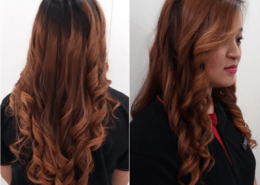 Long curly hair with colour - Kittn Salon & Spa - Beauty Parlour & hair salon Karnal +91 184 404 2229 174 and Ludhiana + 91 161 410 0076.
