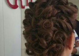 Hair up rear view for formal event - Kittn Salon & Spa - Beauty Parlour & hair salon Karnal +91 184 404 2229 174and Ludhiana + 91 161 410 0076.