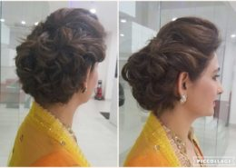 Rear and side view of hair style for women - Kittn Salon & Spa - Beauty Parlour & hair salon Karnal +91 184 404 2229 174 and Ludhiana + 91 161 410 0076.