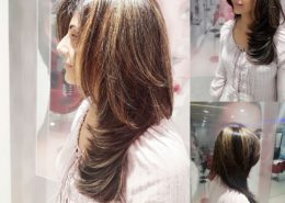 Woman's style cut and highlites - Kittn Salon & Spa - Beauty Parlour & hair salon Karnal +91 184 404 2229 174 and Ludhiana + 91 161 410 0076.