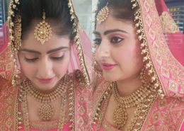 Ceremonial hair and makeup for client - Kittn Salon & Spa - Beauty Parlour & hair salon Karnal +91 184 404 2229 174 and Ludhiana + 91 161 410 0076.