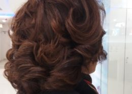 Rear and side view of hair up for femail clients - Kittn Salon & Spa - Beauty Parlour & hair salon Karnal +91 184 404 2229 174 and Ludhiana + 91 161 410 0076.