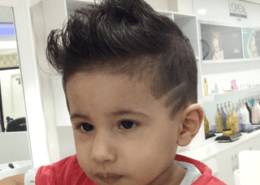 Kids haircut and style with hair tattoo - Kittn Salon & Spa - Beauty Parlour & hair salon Karnal +91 184 404 2229 174 and Ludhiana + 91 161 410 0076.