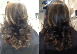 Before and after image for style cut with colour - Kittn Salon & Spa - Beauty Parlour & hair salon Karnal +91 184 404 2229 174 – L, Model Town, Karnal, Haryana-132001