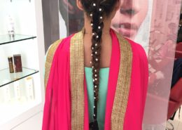 Rear view of platted hair - Kittn Salon & Spa - Beauty Parlour & hair salon Karnal +91 184 404 2229 174 – L, Model Town, Karnal, Haryana-132001