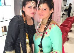 Hair and makeup for two clients - Kittn Salon & Spa - Beauty Parlour & hair salon Karnal +91 184 404 2229 174 and Ludhiana + 91 161 410 0076.