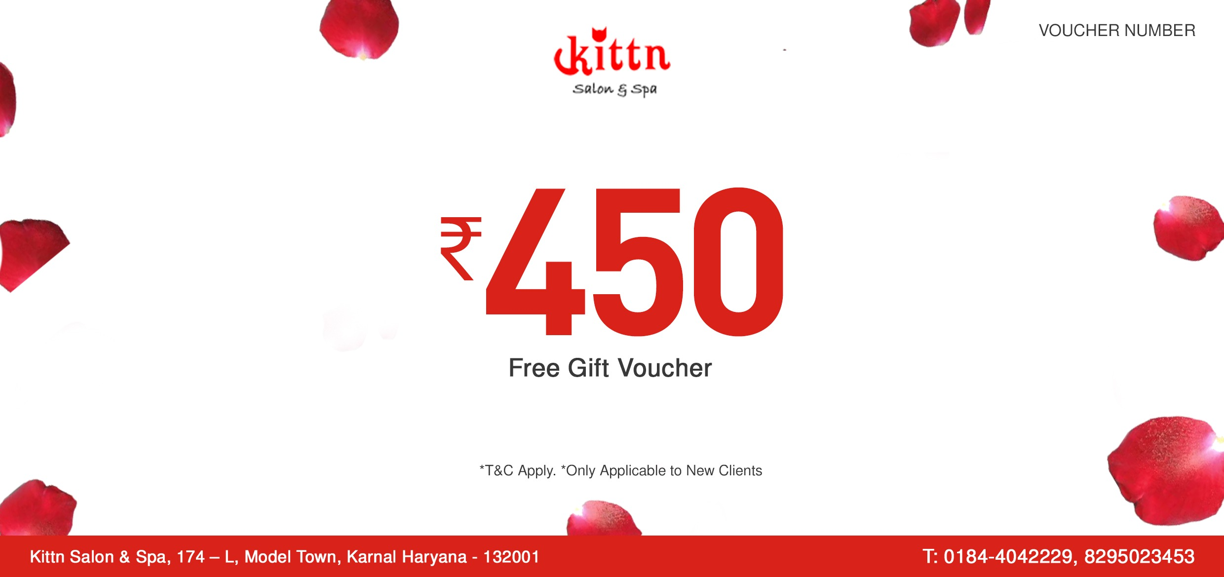Voucher template applicable pictures gift termination letter free 450 gift voucher for new clients kittn salon spa voucher template 450 free free yadclub Image collections